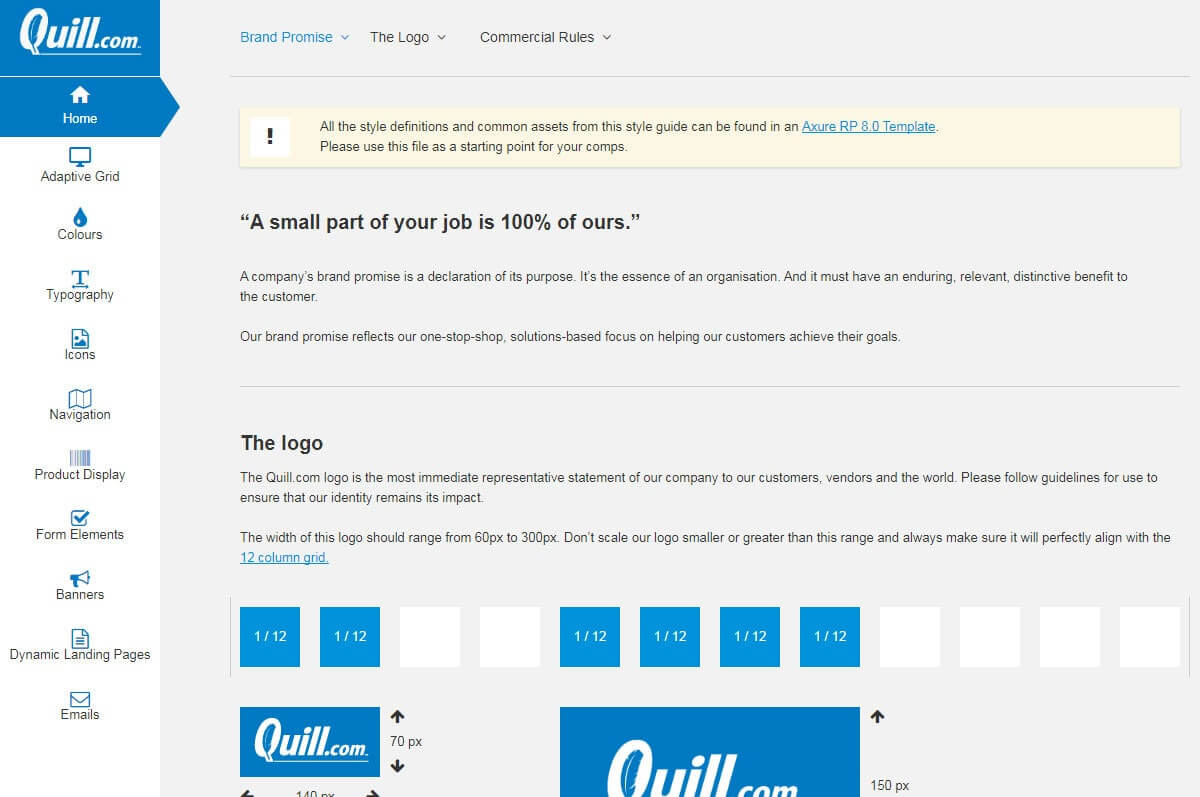 UI Pattern Library - Quill.com